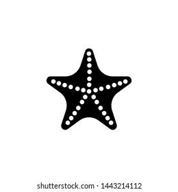 Caribbean Starfish icon vector. Filled flat Starfish symbol.