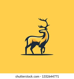 Caribou Concept illustration vector Design template. Suitable for Creative Industry, Multimedia, entertainment, Educations, Shop, and any related business