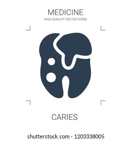 caries icon. high quality filled caries icon on white background. from medical collection flat trendy vector caries symbol. use for web and mobile
