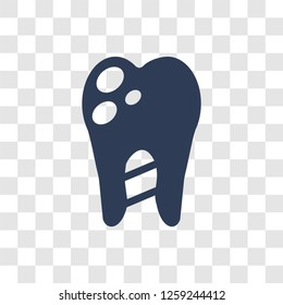 Caries icon. Trendy Caries logo concept on transparent background from Dentist collection