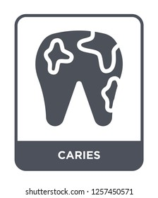caries icon vector on white background, caries trendy filled icons from Medical collection