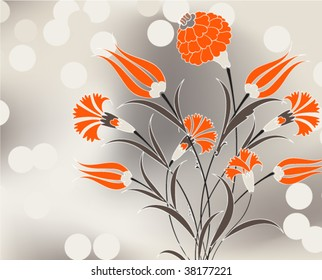 Carnation bouquet vector illustration design