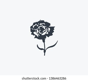 Carnation icon isolated on clean background. Carnation icon concept drawing icon in modern style. Vector illustration for your web mobile logo app UI design.