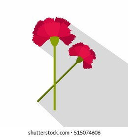 Carnations icon logo. Flat illustration of carnations vector icon for web