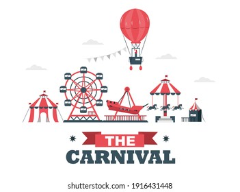 Carnival: Carnival circus day with various games and hot air balloons