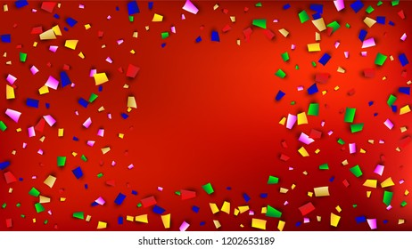 Carnival Confetti Background Holiday Decoration Isolated Stock