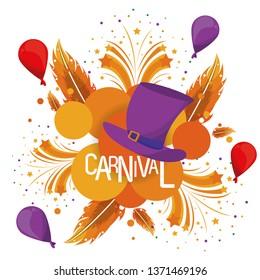 Carnival festival card banner
