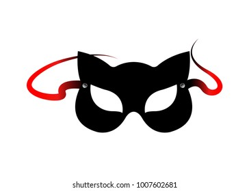 Carnival Fetish Cat Masks Accessories From Bdsm Toys Vector Isolated
