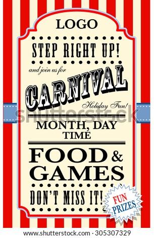 carnival flyer template
