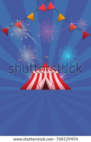 Carnival Fun Fair Flyer Template Vector Stock Vector Royalty Free