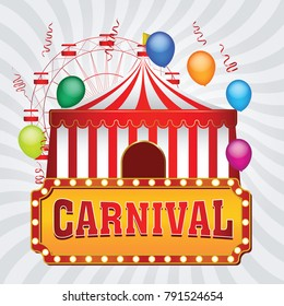 The carnival funfair background. vector illustration