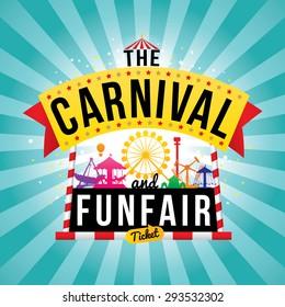 The carnival funfair. vector illustration