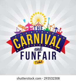The carnival funfair. vector illustration