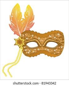 Carnival gold mask