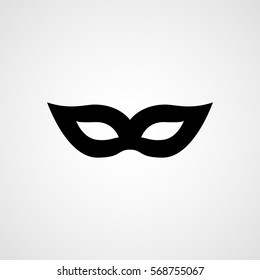 Carnival mask black silhouette. Vector icon