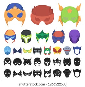 Carnival mask cartoon, black icons in set collection for design.Mask on the eyes and face vector symbol stock web illustration.