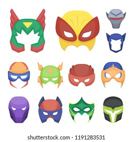 Carnival mask cartoon icons in set collection for design.Mask on the eyes and face vector symbol stock web illustration.