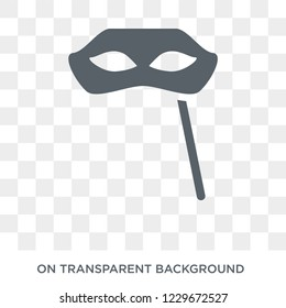 Carnival Mask icon. Carnival Mask design concept from Christmas collection. Simple element vector illustration on transparent background.