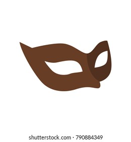 Carnival Mask icon in flat style. For web, print, creative design. Vector illustration. Isolated on white background