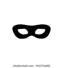 Carnival mask vector icon symbol isolated on white background