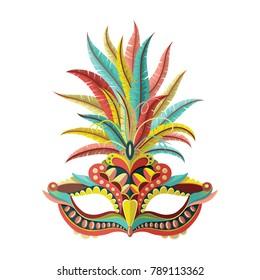 Carnival mask. Vector illustration