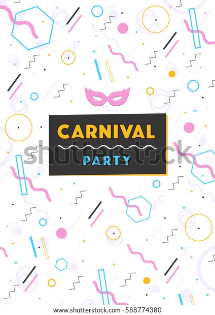 carnival poster. abstract 80s, 90s style retro background with place for text.