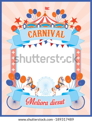 carnival poster template vectorillustration stock vector royalty