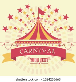 Carnival Tent Background Template - Vector