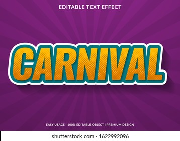 carnival text effect template with trendy type style and colorful concept use for brand label and logotype