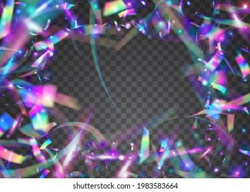 Carnival Tinsel. Purple Laser Glitter. Bokeh Glare. Birthday Effect. Blur Multicolor Gradient. Webpunk Art. Party Prism. Glitter Foil. Violet Carnival Tinsel