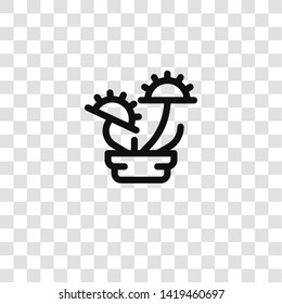 carnivorous plant icon from house plants collection for mobile concept and web apps icon. Transparent outline, thin line carnivorous plant icon for website design and mobile, app development