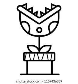 Carnivorous plant icon vector illustration