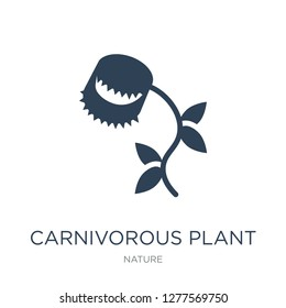 carnivorous plant icon vector on white background, carnivorous plant trendy filled icons from Nature collection, carnivorous plant vector illustration