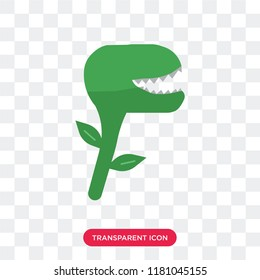 Carnivorous plant vector icon isolated on transparent background, Carnivorous plant logo concept