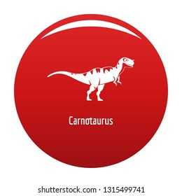 Carnotaurus icon. Simple illustration of carnotaurus vector icon for any design red