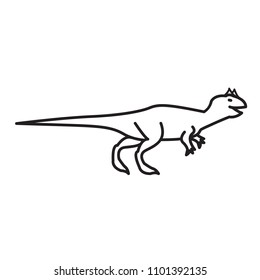 Carnotaurus thin line icon. Vector outline icon.