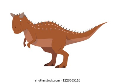Carnotaurus vector illustration isolated in white background. Dinosaurs Collection.