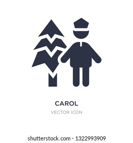 carol icon on white background. Simple element illustration from People concept. carol sign icon symbol design.