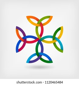 Carolingian cross trinity knots. celtic symbol
