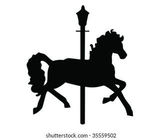 carousel horse vector illustration