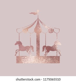 Carousel. Rose gold. Elegant vector illustration for design
