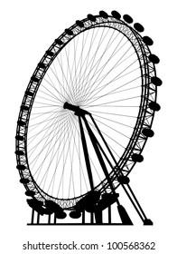 Carousel Silhouette Vector 19