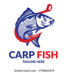 Carp Fish vector illustration, good for Fish Company Distribution and Supplier also Fishing Shop logo