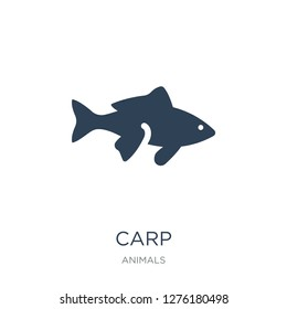 carp icon vector on white background, carp trendy filled icons from Animals collection, carp vector illustration
