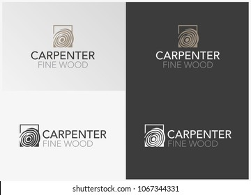Carpenter Fine Wood Furnishing Logo Template