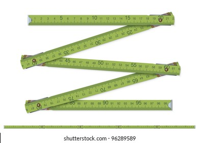 carpenter's measure - vector illustration