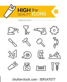 Carpentry Line Icons Series