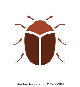 Carpet beetle icon. Pest control clipart isolated on white background