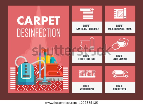 carpet-dry-cleaning-infographic-concept-