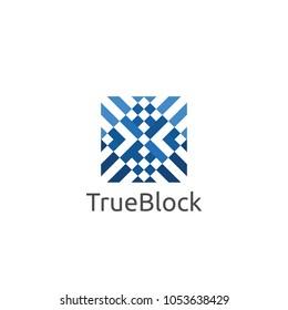 carpet floor tile wall logo icon symbol. block cube pattern element vector illustration.